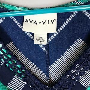 Ava & Viv Tops - Ava & vi tunic top plus size 3X